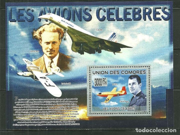COMORES 2009 HB IVERT 177 *** AVIONES CÉLEBRES (Sellos - Temáticas - Aviones)
