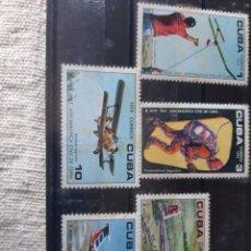 Sellos: CUBA 1974 AVIACIÓN SERIE COMPLETA NUEVA MANCHITAS 21682 YVERT 1799/03. Lote 205361546