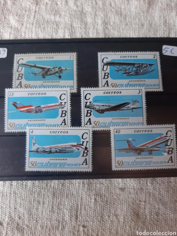 CUBA AVIONES SERIE COMPLETA NUEVA MANCHITAS AÑO 1979 (Sellos - Temáticas - Aviones)