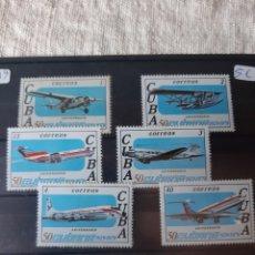 Sellos: CUBA AVIONES SERIE COMPLETA NUEVA MANCHITAS AÑO 1979. Lote 205380055