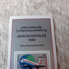 Sellos: ALEMANIA HIJA BLOQUE 1980 AEROSOZPHILEX. Lote 205525177