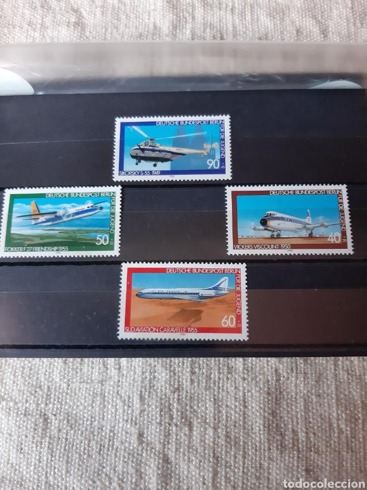 ALEMANIA SERIE COMPLETA NUEVA AVIONES 578/81 (Sellos - Temáticas - Aviones)