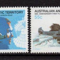 Sellos: ANTARTICO AUSTRALIANO 35/36** - AÑO 1979 - AVIONES - 50º ANIV. DE LA EXPEDICION AEREA A LA ANTARTIDA. Lote 295533428