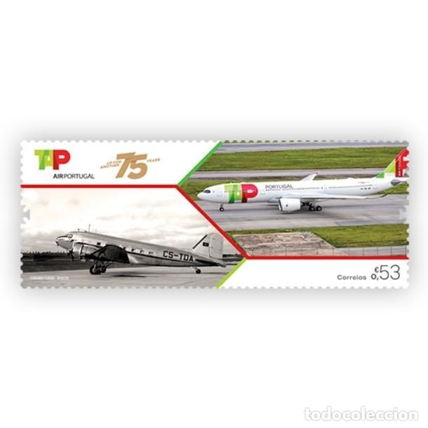 PORTUGAL ** & 75 AÑOS TAP AIR PORTUGAL 2020 (8629) (Sellos - Temáticas - Aviones)