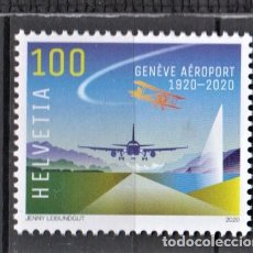 Timbres: SUIZA 2020 SWISS AIR - AVIACION. Lote 207402791