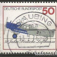 Sellos: ALEMANIA - FEDERAL - 1976 - 50 ANIVERSARIO DE LUFTHANSA - MI 878 - USADO. Lote 208727388