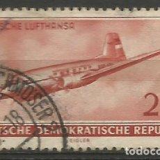 Sellos: ALEMANIA - ORIENTAL -1956 - DEUTSCHE LUFTHANSA - USADO. Lote 208747631