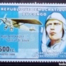 Sellos: CHARLES LIMBERG SELLO NUEVO DE REPÚBLICA DEL CONGO. Lote 209854196