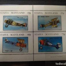 Sellos: HOJA BLOQUE STAFFA SCOTLAND 1981.. Lote 209942988