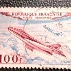 Sellos: FRANCIA. A 30 PROTOTIPOS DE AVIONES: DASSAULT MYSTÈRE IV. 1954. SELLOS USADOS Y NUMERACIÓN YVERT.. Lote 209958608