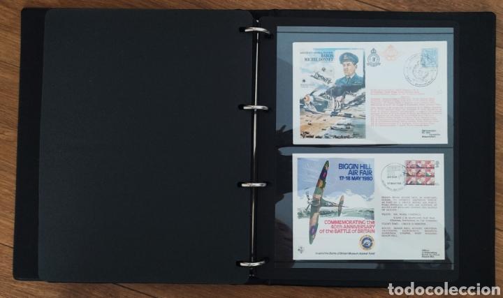 Sellos: WW2 - ALBUM CON 44 SOBRES CONMEMORATIVOS DE LA ROYAL AIR FORCE FILATELIA COVERS STAMPS RAF AVIACION - Foto 5 - 212774787