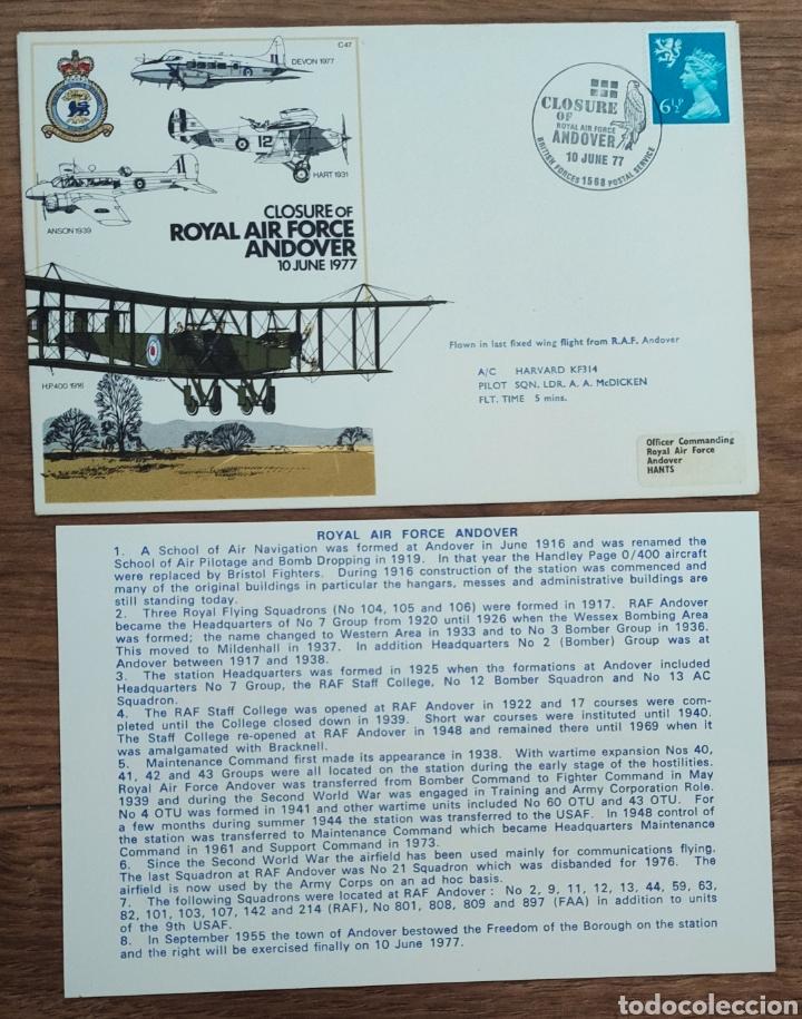 Sellos: WW2 - ALBUM CON 44 SOBRES CONMEMORATIVOS DE LA ROYAL AIR FORCE FILATELIA COVERS STAMPS RAF AVIACION - Foto 11 - 212774787