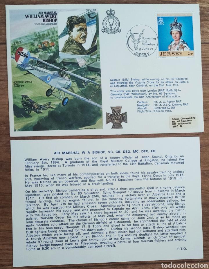 Sellos: WW2 - ALBUM CON 44 SOBRES CONMEMORATIVOS DE LA ROYAL AIR FORCE FILATELIA COVERS STAMPS RAF AVIACION - Foto 6 - 212774787