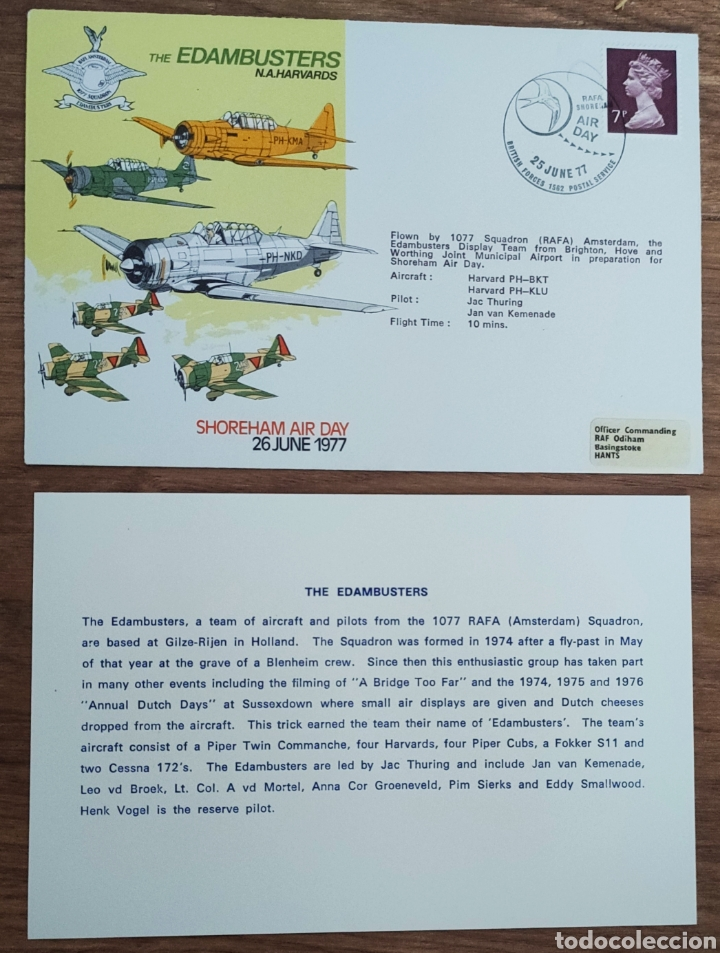 Sellos: WW2 - ALBUM CON 44 SOBRES CONMEMORATIVOS DE LA ROYAL AIR FORCE FILATELIA COVERS STAMPS RAF AVIACION - Foto 13 - 212774787
