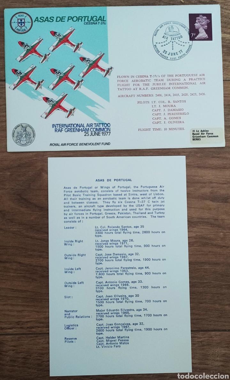 Sellos: WW2 - ALBUM CON 44 SOBRES CONMEMORATIVOS DE LA ROYAL AIR FORCE FILATELIA COVERS STAMPS RAF AVIACION - Foto 18 - 212774787