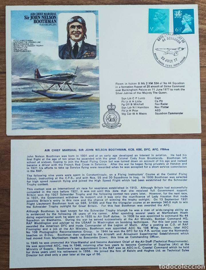 Sellos: WW2 - ALBUM CON 44 SOBRES CONMEMORATIVOS DE LA ROYAL AIR FORCE FILATELIA COVERS STAMPS RAF AVIACION - Foto 12 - 212774787