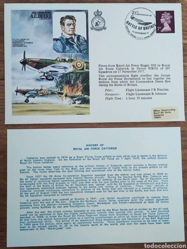 Sellos: WW2 - ALBUM CON 44 SOBRES CONMEMORATIVOS DE LA ROYAL AIR FORCE FILATELIA COVERS STAMPS RAF AVIACION - Foto 7 - 212774787