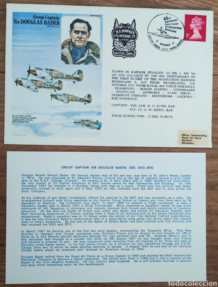 Sellos: WW2 - ALBUM CON 44 SOBRES CONMEMORATIVOS DE LA ROYAL AIR FORCE FILATELIA COVERS STAMPS RAF AVIACION - Foto 24 - 212774787