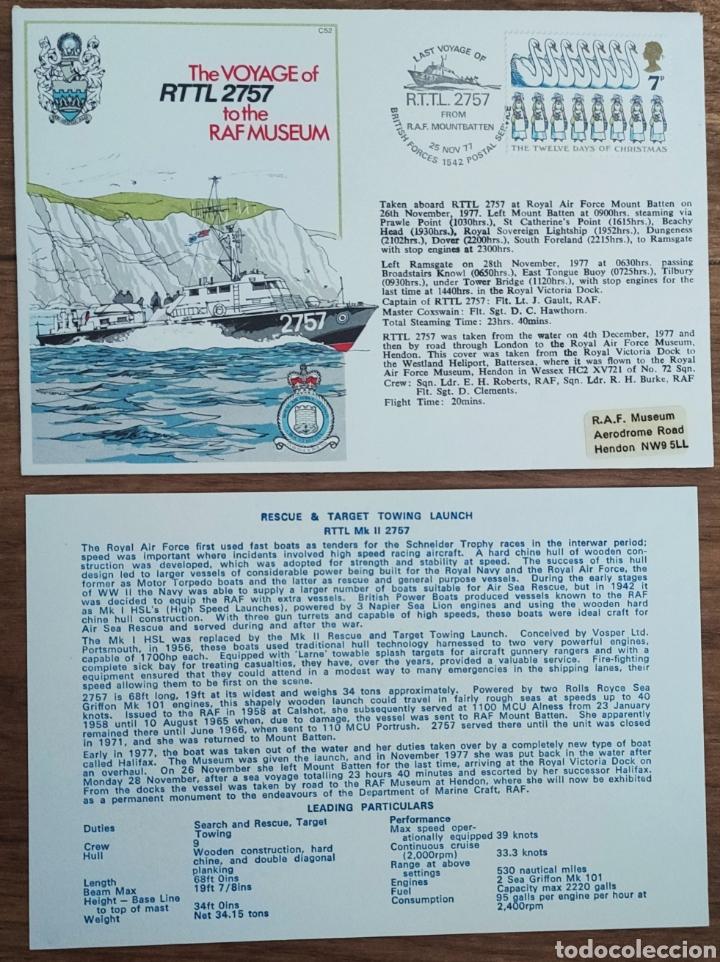 Sellos: WW2 - ALBUM CON 44 SOBRES CONMEMORATIVOS DE LA ROYAL AIR FORCE FILATELIA COVERS STAMPS RAF AVIACION - Foto 25 - 212774787