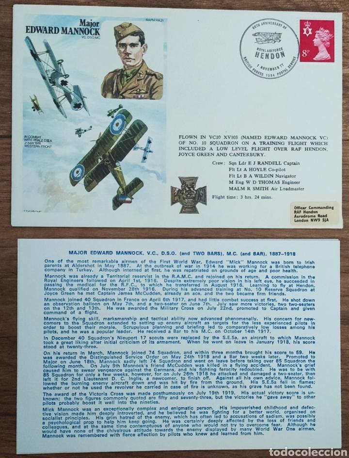 Sellos: WW2 - ALBUM CON 44 SOBRES CONMEMORATIVOS DE LA ROYAL AIR FORCE FILATELIA COVERS STAMPS RAF AVIACION - Foto 8 - 212774787