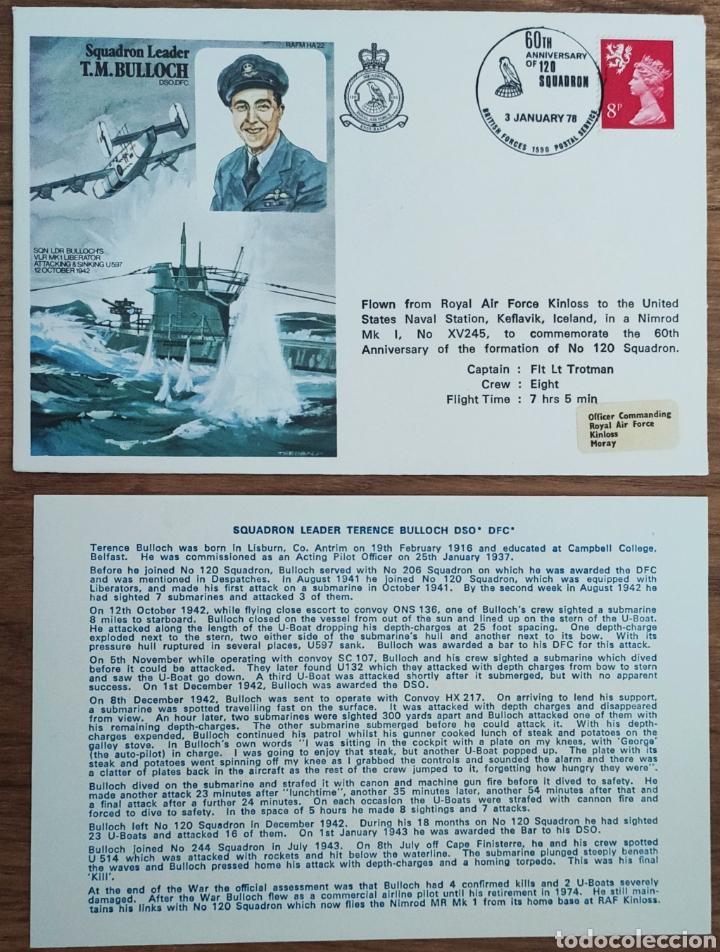 Sellos: WW2 - ALBUM CON 44 SOBRES CONMEMORATIVOS DE LA ROYAL AIR FORCE FILATELIA COVERS STAMPS RAF AVIACION - Foto 10 - 212774787