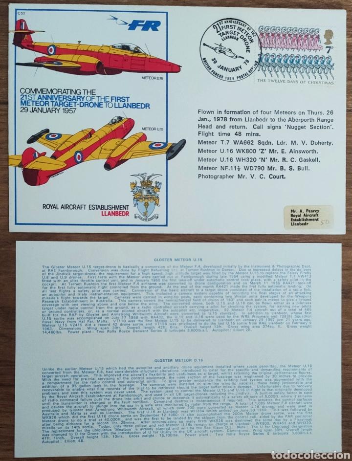 Sellos: WW2 - ALBUM CON 44 SOBRES CONMEMORATIVOS DE LA ROYAL AIR FORCE FILATELIA COVERS STAMPS RAF AVIACION - Foto 29 - 212774787