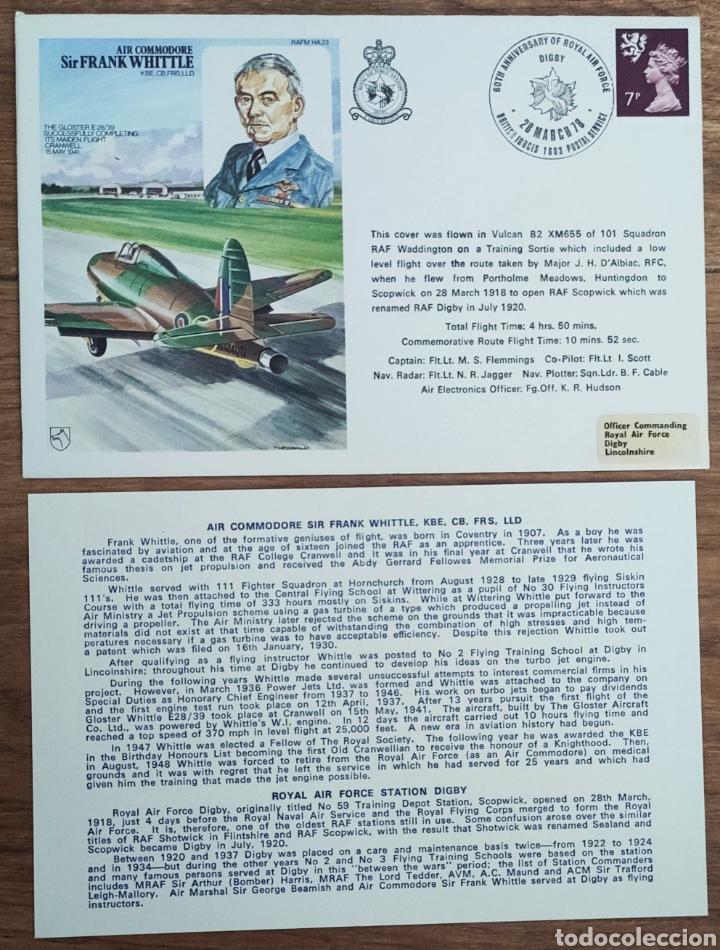 Sellos: WW2 - ALBUM CON 44 SOBRES CONMEMORATIVOS DE LA ROYAL AIR FORCE FILATELIA COVERS STAMPS RAF AVIACION - Foto 14 - 212774787