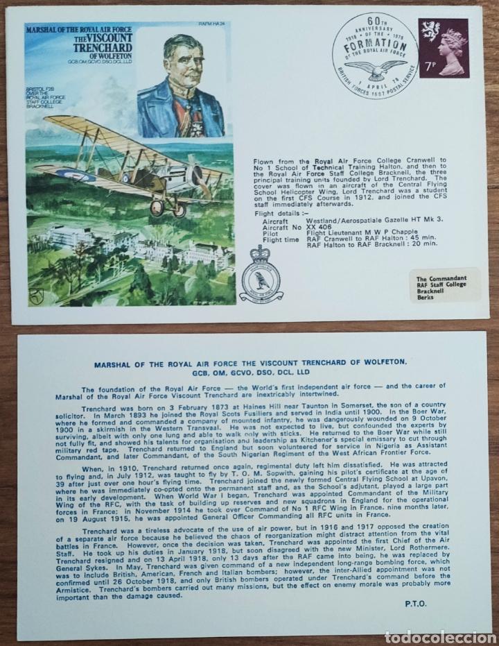 Sellos: WW2 - ALBUM CON 44 SOBRES CONMEMORATIVOS DE LA ROYAL AIR FORCE FILATELIA COVERS STAMPS RAF AVIACION - Foto 16 - 212774787