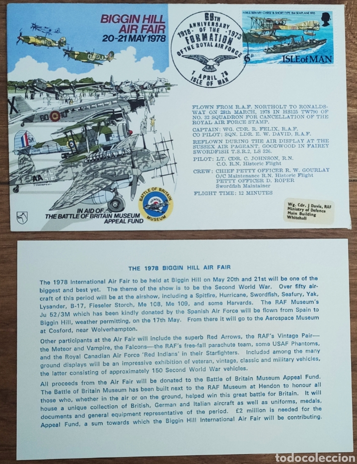 Sellos: WW2 - ALBUM CON 44 SOBRES CONMEMORATIVOS DE LA ROYAL AIR FORCE FILATELIA COVERS STAMPS RAF AVIACION - Foto 30 - 212774787
