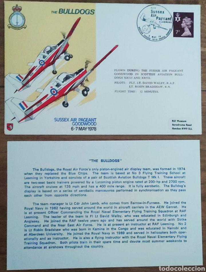 Sellos: WW2 - ALBUM CON 44 SOBRES CONMEMORATIVOS DE LA ROYAL AIR FORCE FILATELIA COVERS STAMPS RAF AVIACION - Foto 33 - 212774787