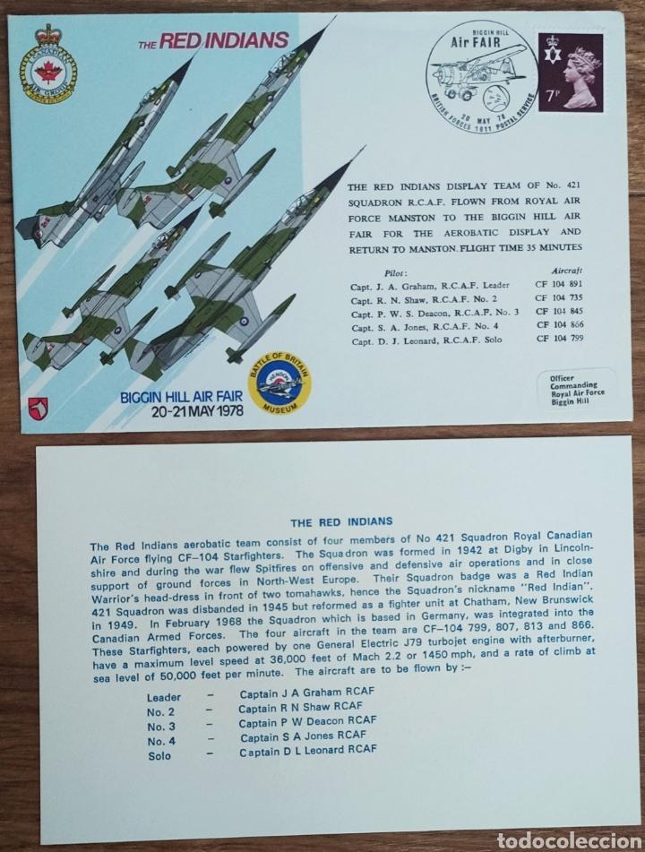 Sellos: WW2 - ALBUM CON 44 SOBRES CONMEMORATIVOS DE LA ROYAL AIR FORCE FILATELIA COVERS STAMPS RAF AVIACION - Foto 36 - 212774787