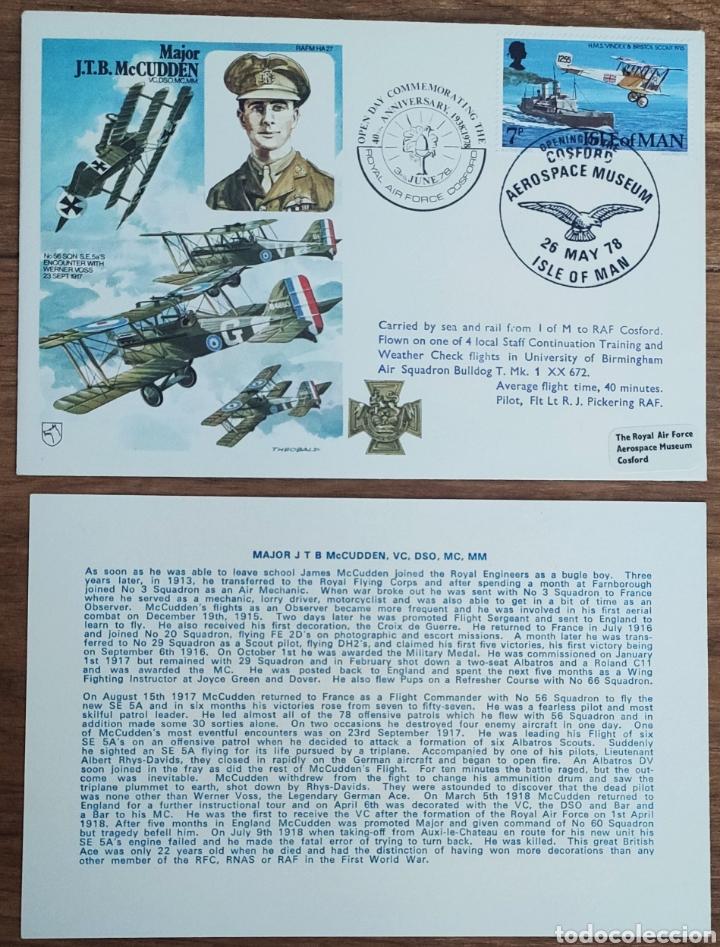Sellos: WW2 - ALBUM CON 44 SOBRES CONMEMORATIVOS DE LA ROYAL AIR FORCE FILATELIA COVERS STAMPS RAF AVIACION - Foto 39 - 212774787