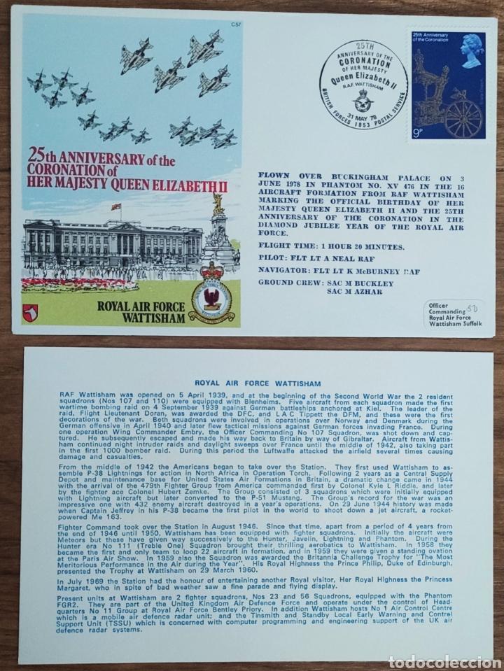 Sellos: WW2 - ALBUM CON 44 SOBRES CONMEMORATIVOS DE LA ROYAL AIR FORCE FILATELIA COVERS STAMPS RAF AVIACION - Foto 40 - 212774787