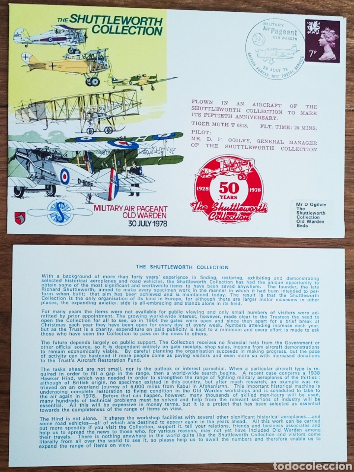 Sellos: WW2 - ALBUM CON 44 SOBRES CONMEMORATIVOS DE LA ROYAL AIR FORCE FILATELIA COVERS STAMPS RAF AVIACION - Foto 42 - 212774787