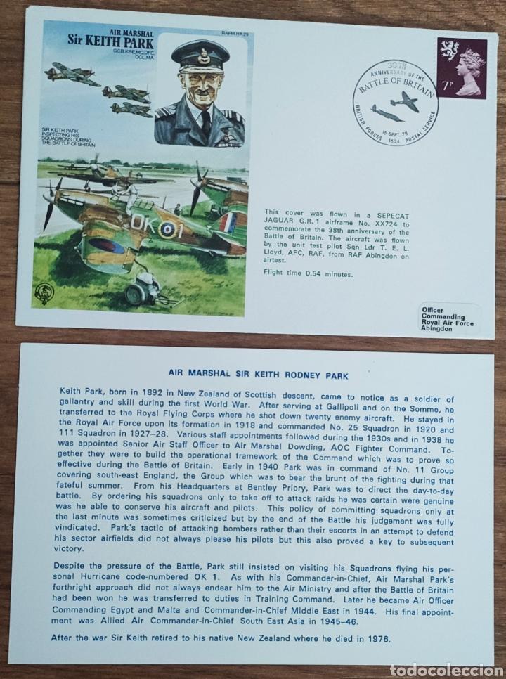 Sellos: WW2 - ALBUM CON 44 SOBRES CONMEMORATIVOS DE LA ROYAL AIR FORCE FILATELIA COVERS STAMPS RAF AVIACION - Foto 34 - 212774787