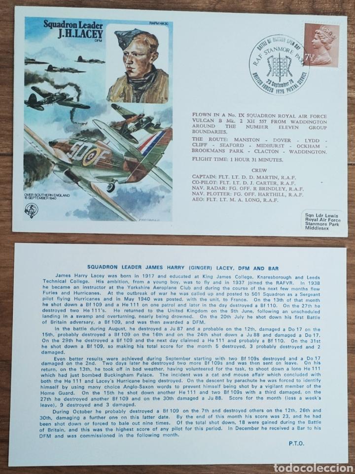 Sellos: WW2 - ALBUM CON 44 SOBRES CONMEMORATIVOS DE LA ROYAL AIR FORCE FILATELIA COVERS STAMPS RAF AVIACION - Foto 45 - 212774787