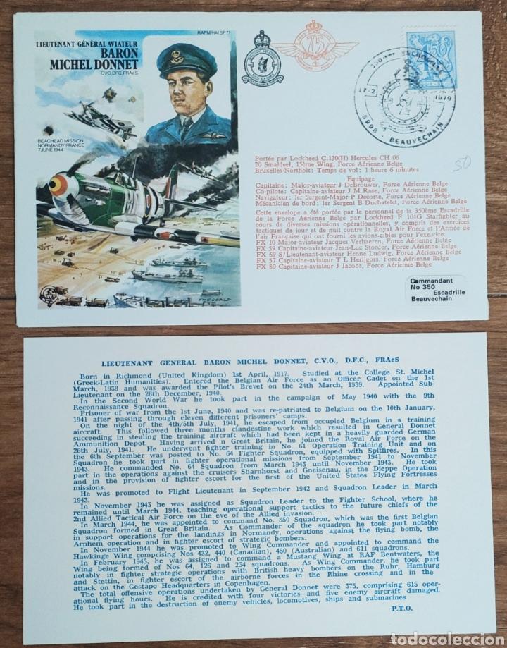 Sellos: WW2 - ALBUM CON 44 SOBRES CONMEMORATIVOS DE LA ROYAL AIR FORCE FILATELIA COVERS STAMPS RAF AVIACION - Foto 46 - 212774787