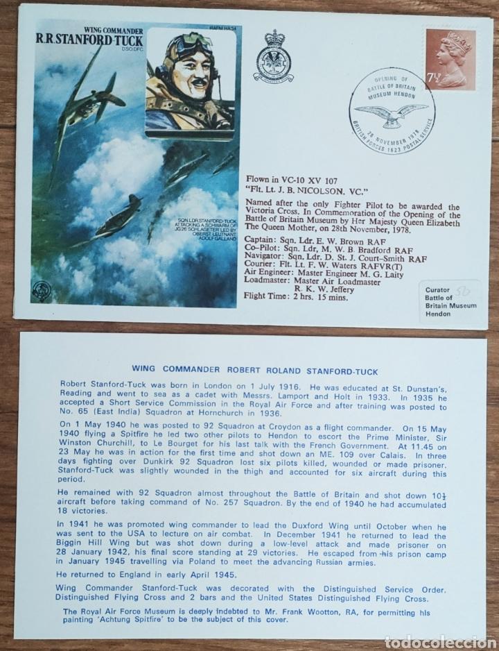 Sellos: WW2 - ALBUM CON 44 SOBRES CONMEMORATIVOS DE LA ROYAL AIR FORCE FILATELIA COVERS STAMPS RAF AVIACION - Foto 48 - 212774787
