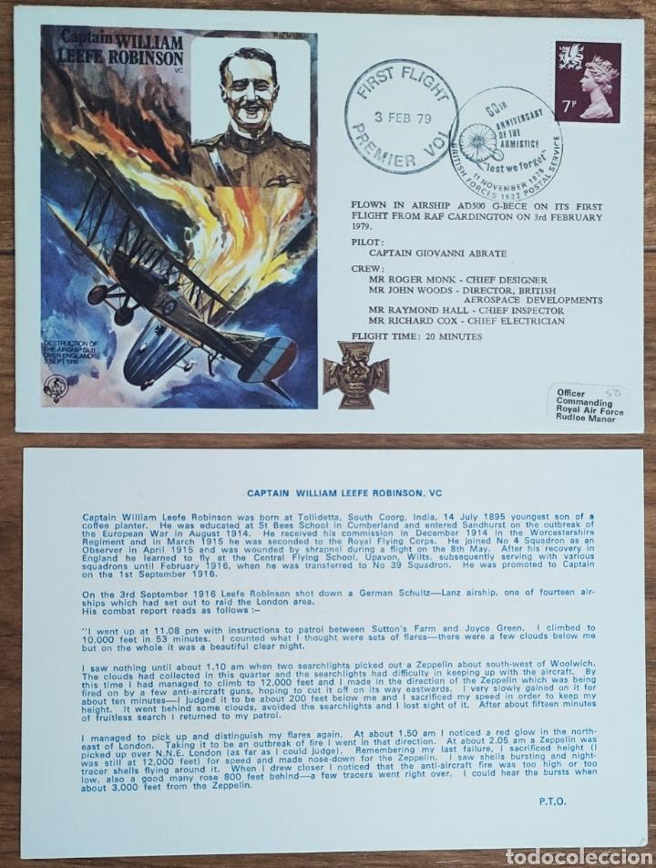 Sellos: WW2 - ALBUM CON 44 SOBRES CONMEMORATIVOS DE LA ROYAL AIR FORCE FILATELIA COVERS STAMPS RAF AVIACION - Foto 20 - 212774787