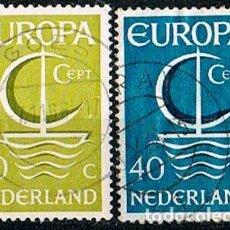 Sellos: HOLANDA IVERT Nº 837/8, EUROPA 1966, USADO (SERIE COMPLETA). Lote 213264285