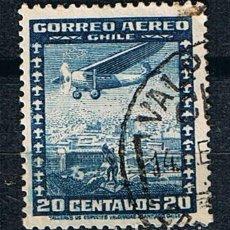 Sellos: SELLO CORREO AÉREO CHILE 1934 -SELLO USADO. Lote 213552453