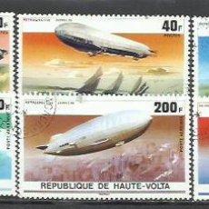 Sellos: 2778-2 SERIES COMPLETAS HAUTE VOLTA ZEPPELIN 1976 Nº385/7 Y AEREO 205/7.AFRICA VENDO SELLOS DE MUCH. Lote 218099473