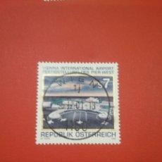 Sellos: SELLOS AUSTRIA (OSTERREICH) MTDOS/1996/AEROPUERTO/TRANSPORTES/AVIONES/AVIACION/VIAJES/. Lote 218239188