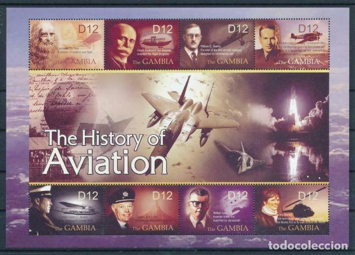 GAMBIA 2004 IVERT 4209/16 *** HISTORIA DE LA AVIACIÓN - PERSONAJES Y AVIONES (Sellos - Temáticas - Aviones)