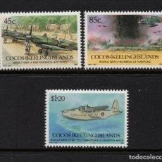 Sellos: COCOS 261/63** - AÑO 1992 - AVIONES - LA SEGUNDA GUERRA MUNDIAL. Lote 218807635