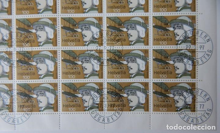Sellos: 2 HB Suiza 1977 – Pioneros aviación / Flight Pioneers / Armand Dufaux - Walter Mittelholzer - Foto 7 - 219037488
