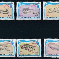 Sellos: SOMALIA 1993 IVERT 427/32 *** INGENIERÍAS VOLANTES - AVIONES ANTIGUOS. Lote 220089646