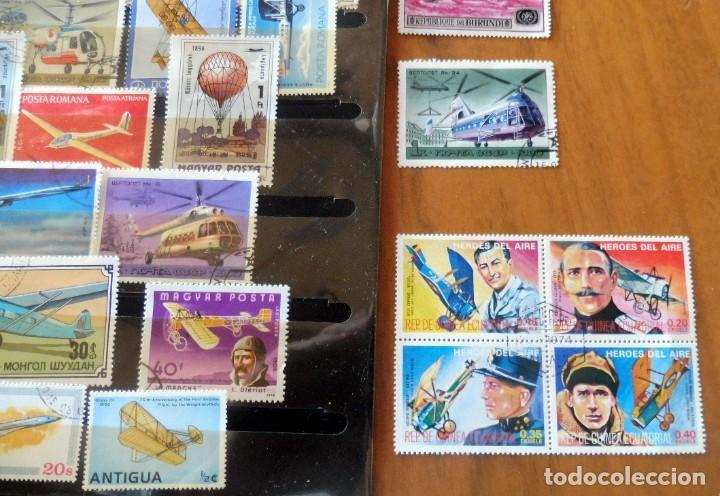 Sellos: LOTE 45 SELLOS TEMATICOS MUNDIAL - AVIACIÓN - AVIONES - ANTIGUOS - Foto 6 - 221933728