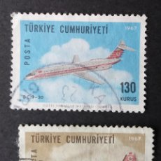 Sellos: 1967 TURQUÍA AVIONES. Lote 221941537