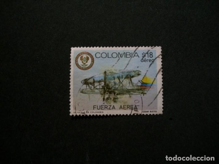 /24.10/-COLOMBIA-1982-CORREO AEREO 18 P. Y&T 916 SERIE COMPLETA EN USADO/º/ (Sellos - Temáticas - Aviones)